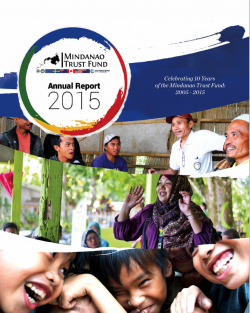 Annual Report 2015: Mindanao Trust Fund (MTF)